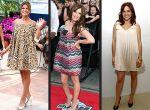 """Eva Mendes, Hilary Duff oraz Sophia Bush  w sukienkach """"ciążowych"""""""