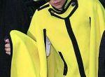 Lady Gaga w żółtej pelerynie od Marc Jacobs