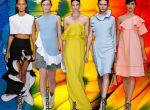 kolorowe suknie i sukienki - moda 2013