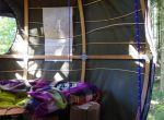 modny namiot wnętrze