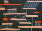Karina Koziej i jej muzykalne malowanie na wernisażu obrazów w SH Studio w Warszawie - obraz 2