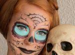 Halloween zdobienie twarzy
