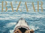 Rihanna w szczękach rekina - Harper′s Bazaar okładka