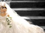 Miss Piggy w sukni ślubnej Vivienne Westwood