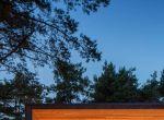 Nowoczesny rustykalny dom z drewna w lesie, fotografia 4