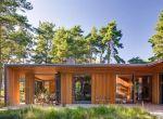 Nowoczesny rustykalny dom z drewna w lesie, fotografia 7