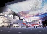 Świetlisty kompleks kin, teatrów, sal kongresowych.