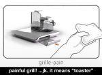 Budzik w postaci kawy i tostów