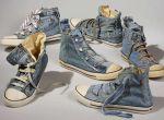 Jeansowe buty stworzone z spodni Levi's