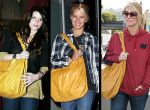 Jessica Simpson - żółta  torba