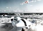 Pojazd mieści się gdzieś pomiędzy nartami wodnymi a latawcem