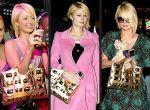 Paris Hilton - złota torba