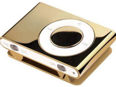 Złoty iPod shuffle 2G