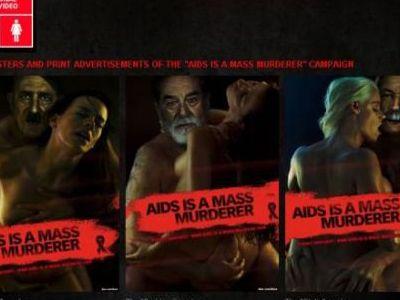 Szokująca kampania przeciwko AIDS
