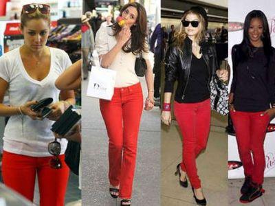 Czerwone jeansy, hit czy kit?