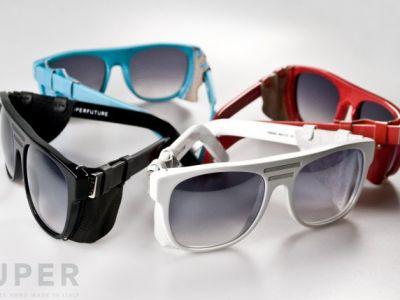 Futurystyczne okulary przeciwsłoneczne