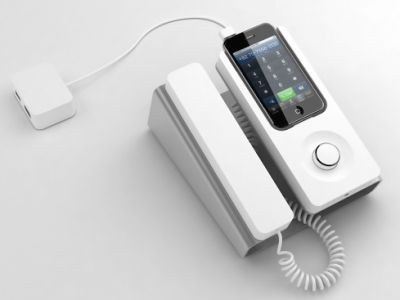Oldschoolowy telefon dla iPhone