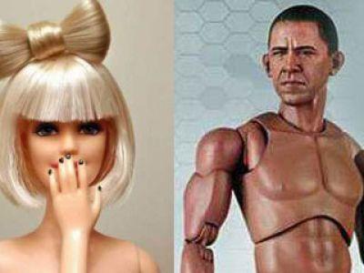 Lalki Lady Gaga i Barack Obama