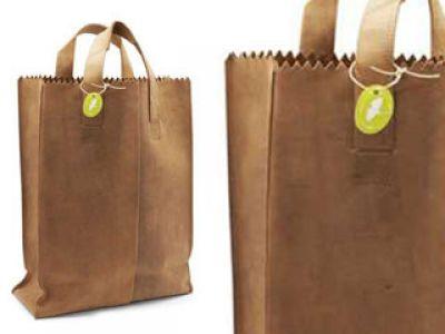 Skórzana, papierowa torba