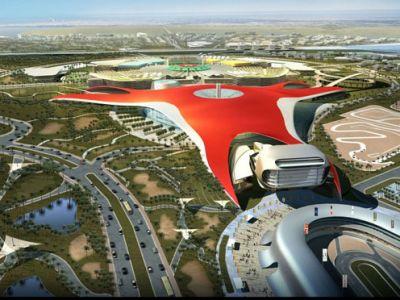 Efektowny park Ferrari w Abu Dhabi