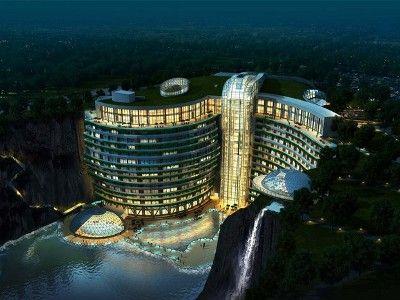 Luksusowy podziemny hotel