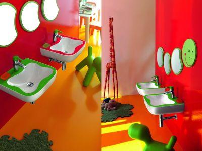 Designerska łazienka malucha