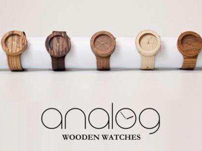 Analog - drewniane zegarki