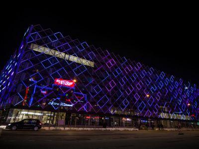 LEDowy budynek