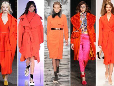 Trend na pomarańczowy płaszcz