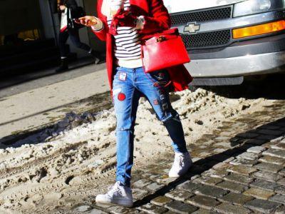 Trend na patchworkowe jeansy