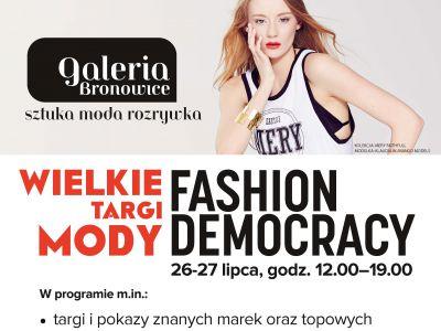 Fashion Democracy w Galerii Bronowice