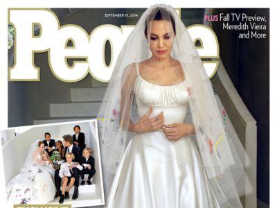 Angelina Jolie do ślubu w Versace