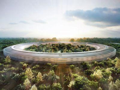 Kampus Apple z lotu drona