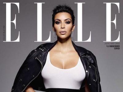 Kim Kardashian w Elle UK