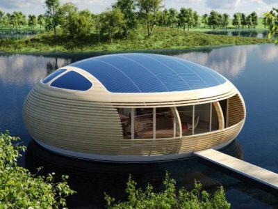 Trendy w architekturze: dom na wodzie