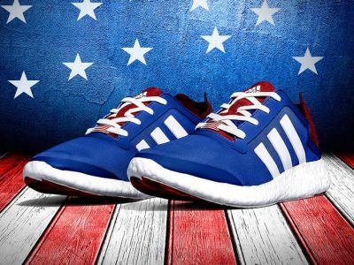 "Patriotyczne sneakersy ""Stars and Stripes"""