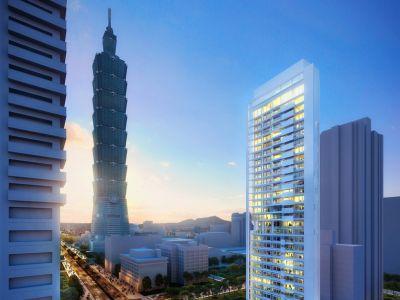 Architektura trendy: apartamenty w Tajpej