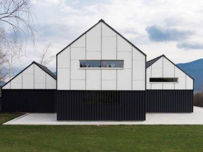 Architektura: Monochromatyczny dom