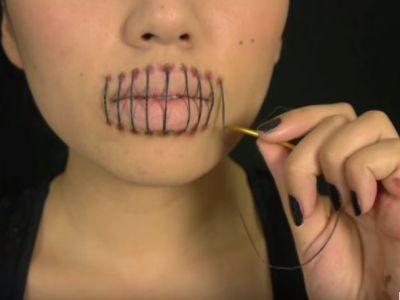 Ostry makijaż na Halloween