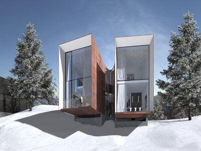 Architektura: Domy narciarzy