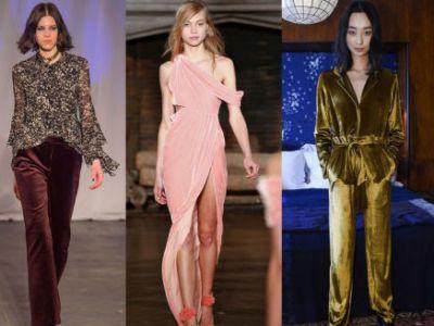 Trendy moda jesień 2016: aksamit