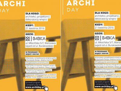 archiDAY dla architektów na wiosnę