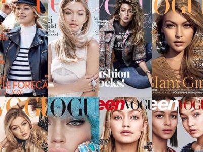Wszystkie okładki Vogue z Gigi Hadid