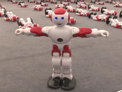 Rekordowy taniec robotów