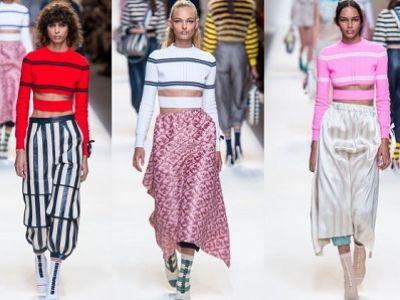 Trendy moda 2017: krótki sweter Fendi z rozcięciem