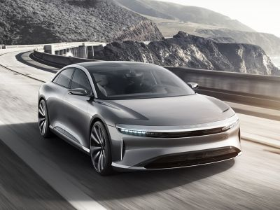 Lucid Air na ulicach San Francisco