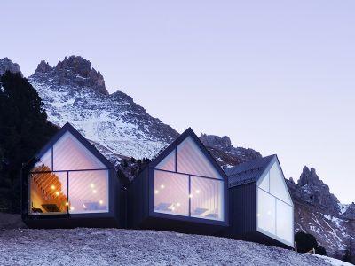 Designerska restauracja w Dolomitach