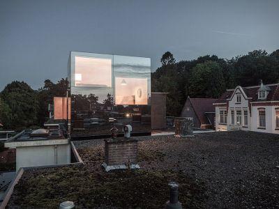 Szokujący dom lustro