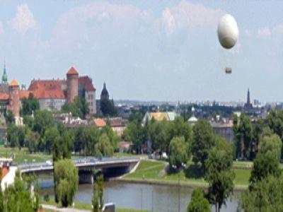 Kraków z wysokości 200 metrów
