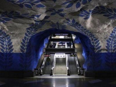 Metro Stockholm- dzieło sztuki